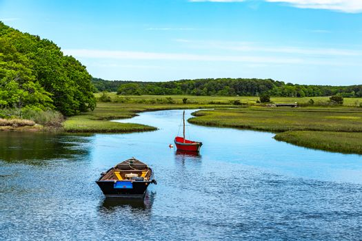 Boats on Herring River, Cape Cod