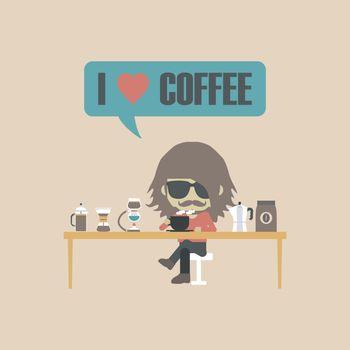 retro coffee lover