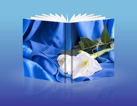 book of a composition of flowers for a wedding