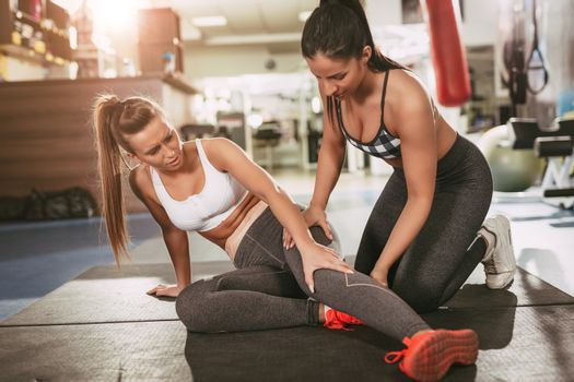 Injured Girl At The Gym