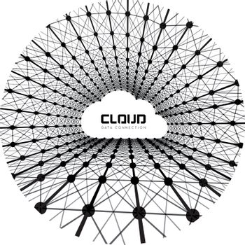 Creative cloud background with line data connections. Vector illustration