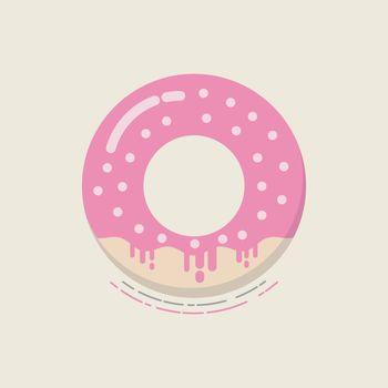 retro flat donut