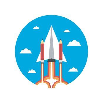 paper plane rocket