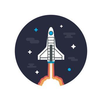 rocket on space