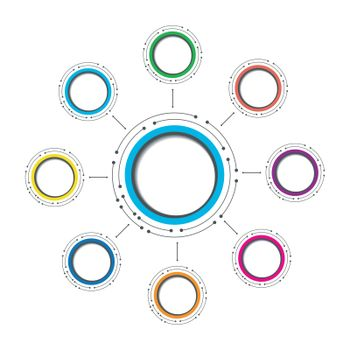 modern circle infographic