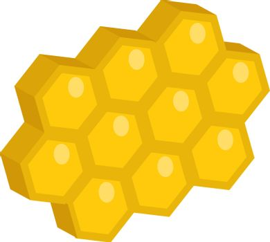 Honeycomb icon, flat style. Isolated on white background. Vector illustration, clip-art.