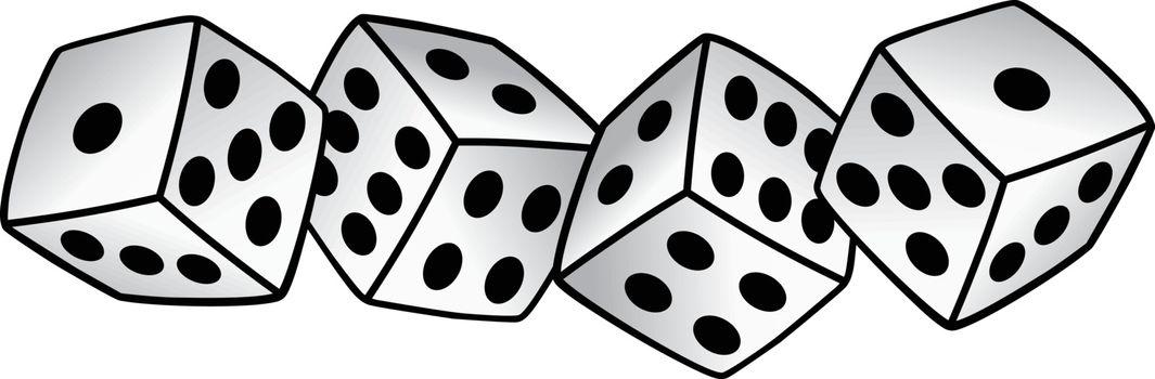 white dice risk taker gamble vector art