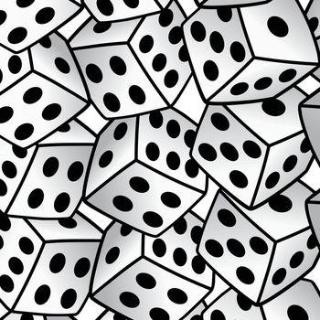 white dice risk taker gamble vector art background