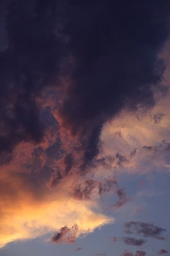 Nature Photo Collection: Summer Clouds Vertical Photo. Summer Sunset.