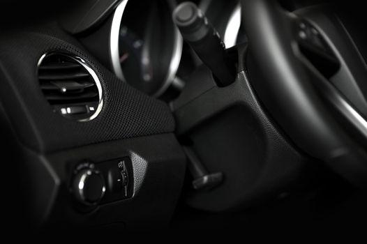 Dark Car Interior