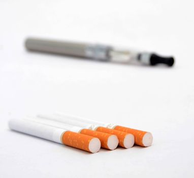 image of a big electronic cigarettes isolated on white