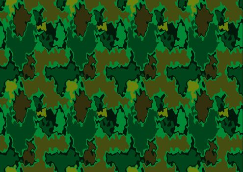 Army Repetitive Texture - Seamless Pattern Background Illustration, Vector