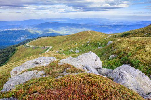 huge stones on top of the mountain horizontal