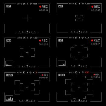 Rec camera viewfinder set