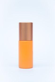 Cosmetic bottle isolated on white background, stock photo