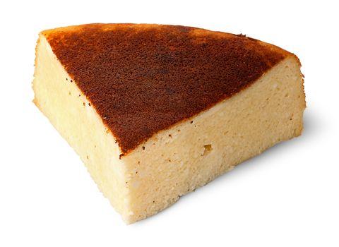 Appetizing piece of cheese casserole