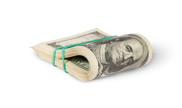 Bundle Of Money Rotated