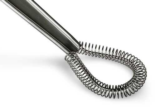 Closeup stainless kitchen whisk