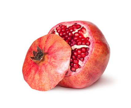 Delicious Exotic Pomegranate Fruit With Lid Near