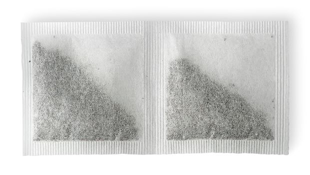 Dual tea bag horizontally