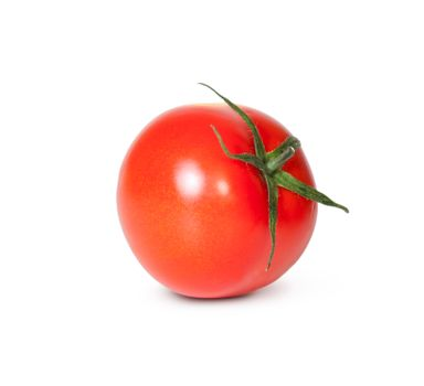 Fresh Red Tomato With Green Stem