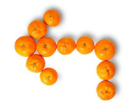 Fresh Juicy Tangerines Pointer Left