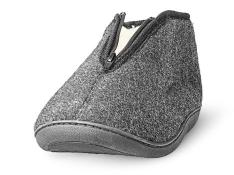 In front one piece the comfortable dark gray slipper
