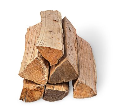 Pile of firewood sight along