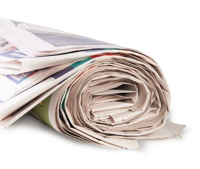 Rolled Up Newspaper