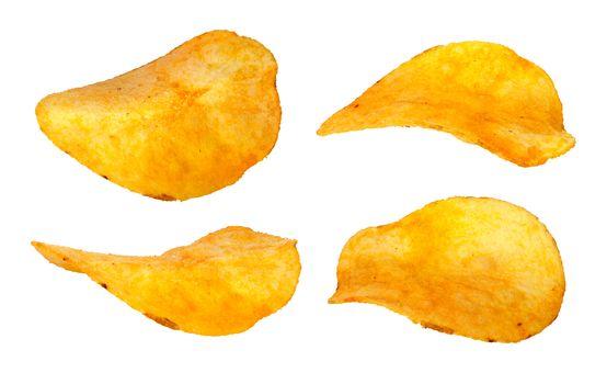 Set of separate chips closeup