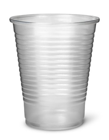 Single plastic cup vertically