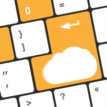 cloud sign on the computer keyboard keys