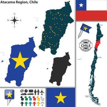 Map of Atacama, Chile