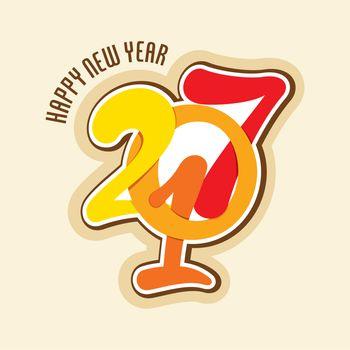 creative happy new year 2017 greeting design
