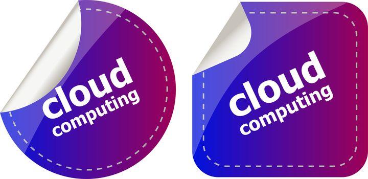 Stylish cloud speech bubble, cloud computing concept