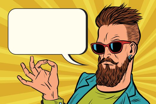 OK okay gesture hipster