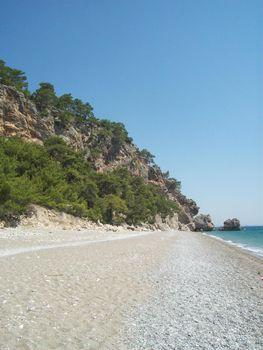 Travel Turkey Antalya area in Mediterranean sea