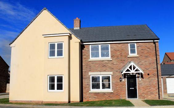 New modern housing estate in England