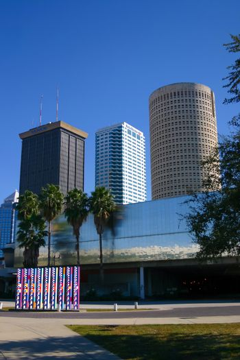 TAMPA, FLORIDA/USA - DECEMBER 06, 2003: Tampa skyline buildings of the Central Business District.