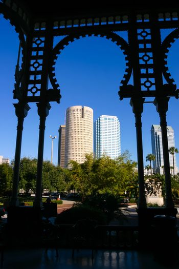Moorish arch silhouette of the University of Tampa, Florida