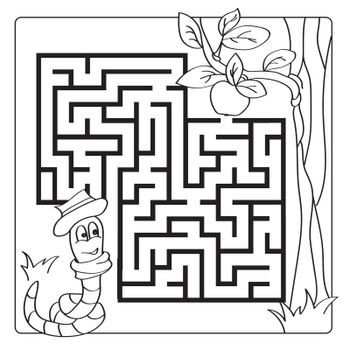 Labyrinth, maze for kids. Entry and exit. Children puzzle game - coloring book