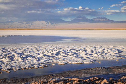 Laguna Tebinquinche landscape in San Pedro de Atacama, Chile