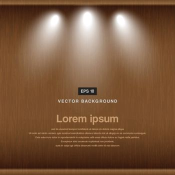 wood background with spotlight vector