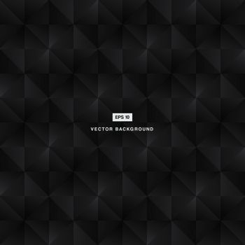 Abstract background modern luxury black and grey square pattern vector