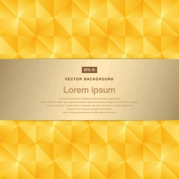 Abstract background modern luxury gold square pattern with label vector