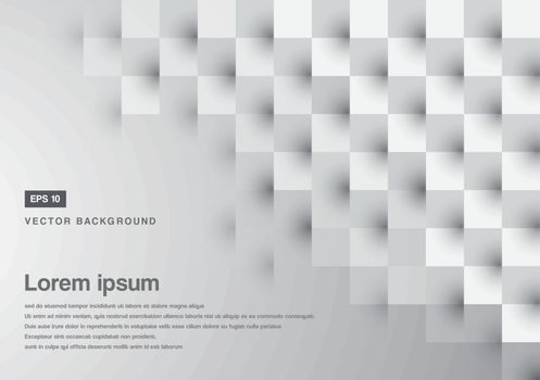 Abstract background grey square pattern  copy space vector