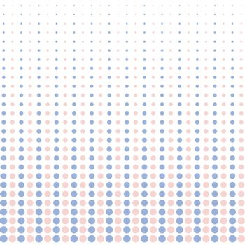 Vector halftone dots. pink and blue pastel color on white background