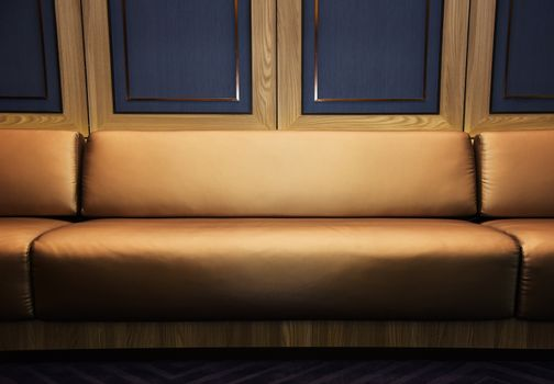 luxury sofa with window wood frame