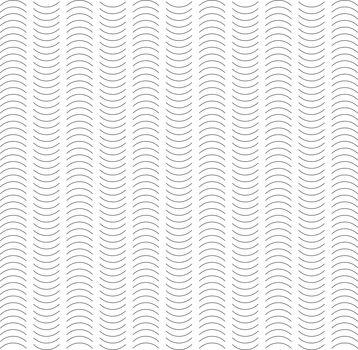 Seamless Wave and Vertical Stripe Pattern. Simple Black and White Regular Line Texture. Minimal Vintage Print Design vector
