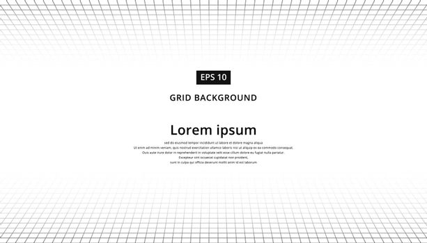 Abstract background. Perspective grid tiled floor and ceiling for copy space vector